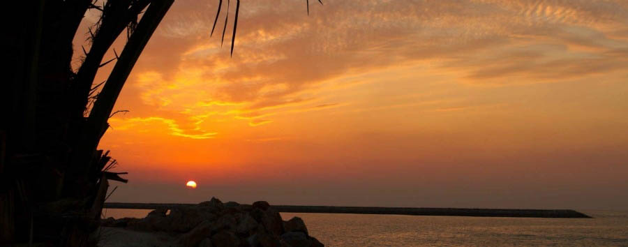 Ras Al Khaimah - Fiery-Red Sunset