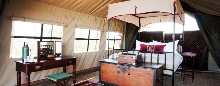 Camp Kalahari - Tent double interior