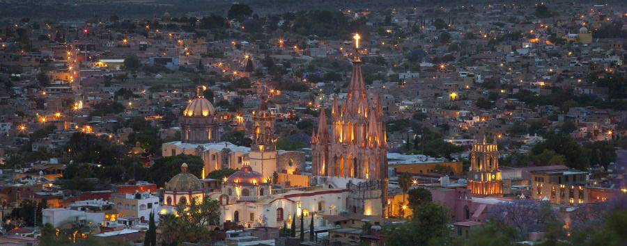 Mexico, Colonial Flavour - Mexico San Miguel de Allende, Panorama by Night