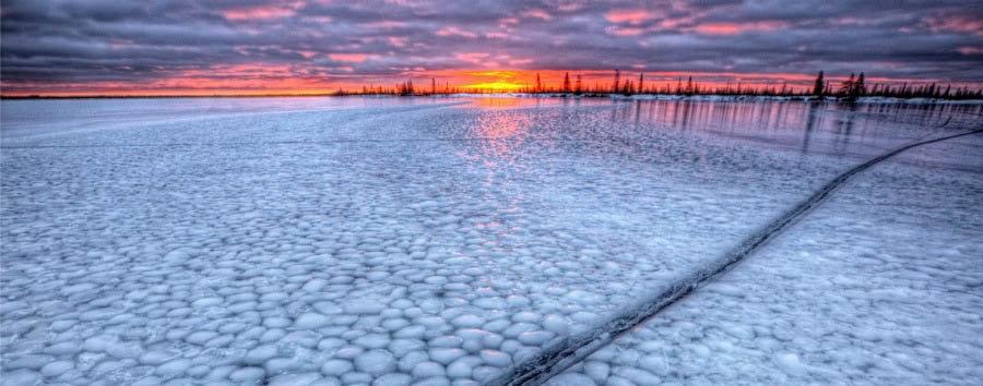 Alla ricerca degli orsi polari - Arctic Sunset over Dymond Lake - Courtesy of Churchill Wild