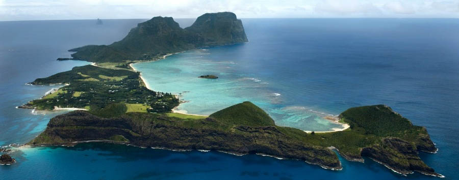 Unique Lord Howe Island Experience - Australia Lord Howe Island, Aerial View © Luxury Lodges of Australia