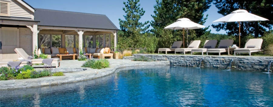 New Zealand - The Farm at Cape Kidnappers, Pool and Cabanas