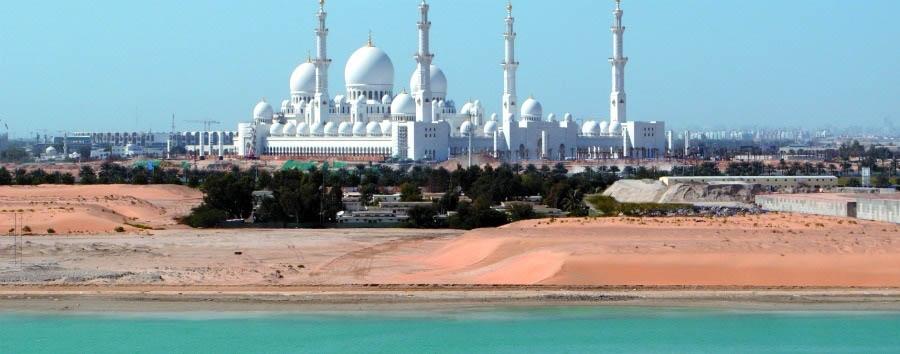 Abu Dhabi, la perla del Golfo - Abu Dhabi Sheikh Zayed Mosque Panoramic View