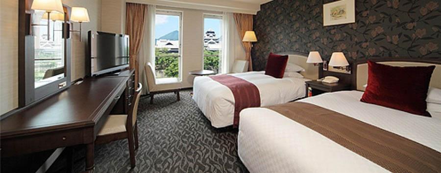 Kumamoto Hotel Castle - Twin room