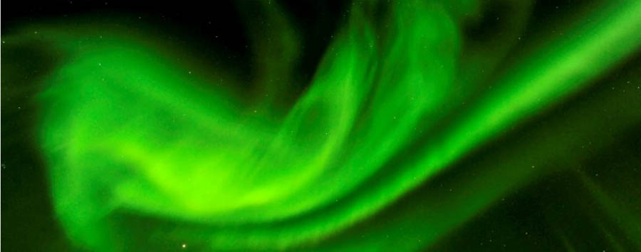 Migrazioni artiche: gli orsi polari - Arctic Northern lights © Michelle Valberg