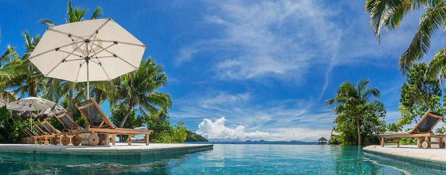 Fiji, mare a Malolo Island - Fiji Likuliku Lagoon Resort, Pool Area