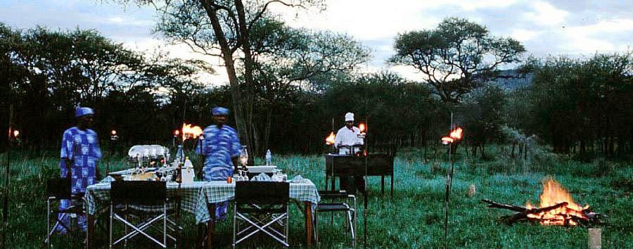 Serengeti Sopa Lodge - Bush dinner