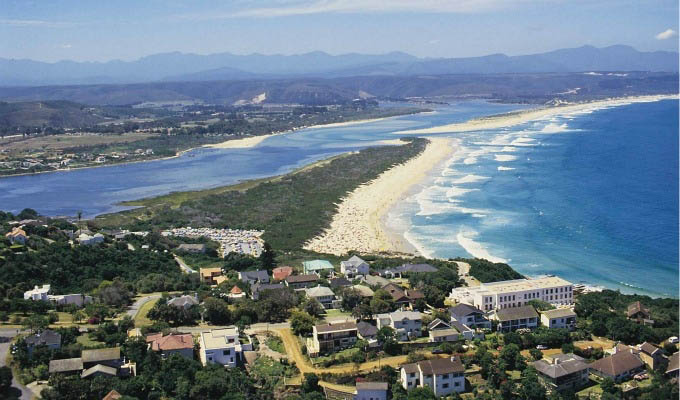 Plettenberg Bay, Aerial View - South Africa