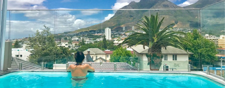 Sudafrica Malaria free - South Africa Cape Town - View by Pool at Cloud 9 Boutique Hotel & Spa