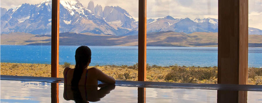 Tierra Patagonia Hotel & Spa - Chilling in the Spa pool