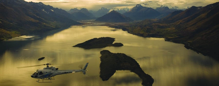 New Zealand - Blanket Bay Lodge, Helicopter Excursion above Lake Wakatipu