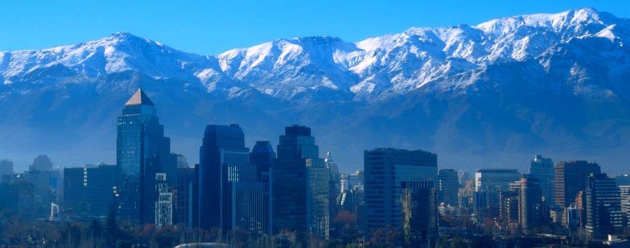 Cile, terra di miti e leggende - Chile Santiago del Cile, skyline