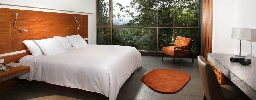 A luxury cocoon in the clouds - Ecuador Mashpi Lodge, Wayra Bedroom © Metropolitan Touring
