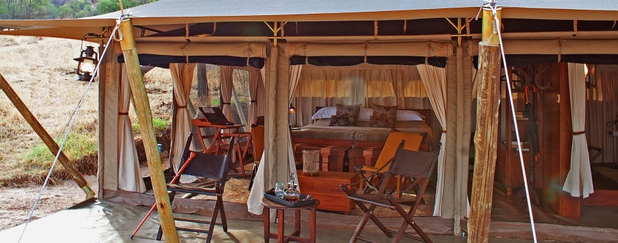 Serengeti Pioneer Camp - Luxury tent exterior view