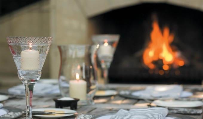 Huka Lodge, Outdoor Fireplace - New Zealand