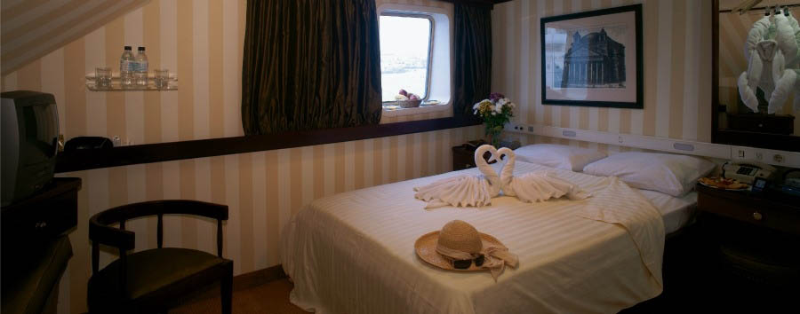 Seychelles - M/Y Pegasus, Category A Cabin Interior
