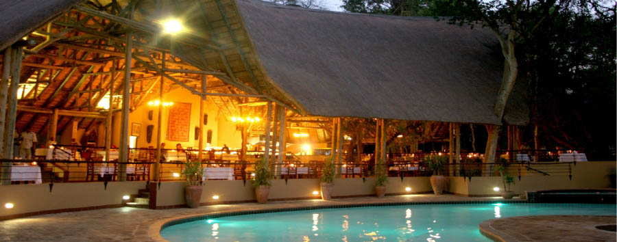 Chobe Safari Lodge - Main Area by Night