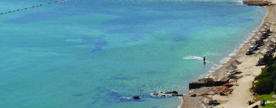 Kempinski Barbaros Bay - Private beach view