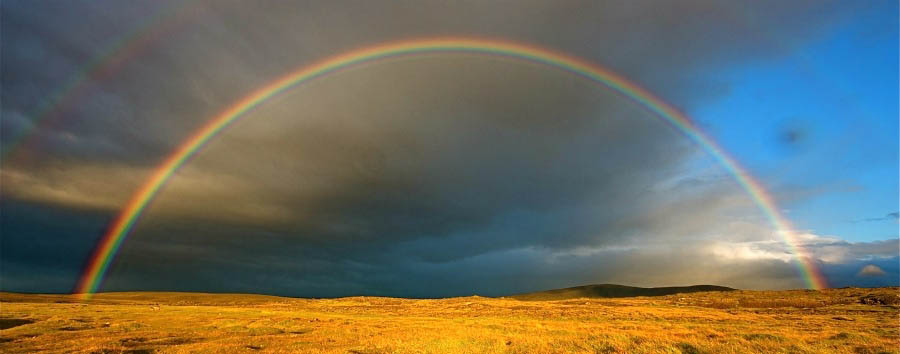 Altipiani Meravigliosi - Iceland Beautiful Rainbow in Hveravallir Geothermal Region - Courtesy of Iceland Travel