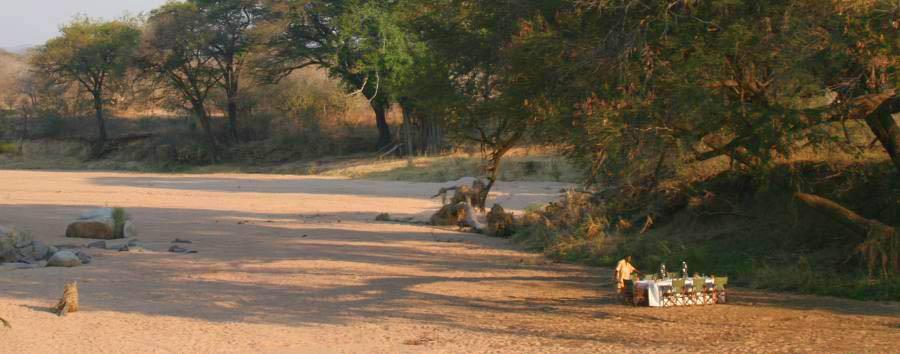 Tanzania del Sud: safari e mare - Tanzania Dine in a Dried Riverbed at Jongomero Camp