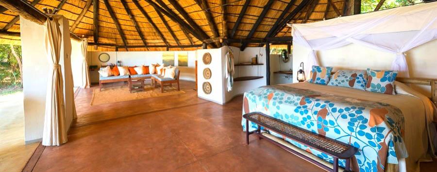 Nkwali - Chalet bedroom