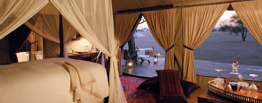 Singita Sabora Tented Camp - Tent interior