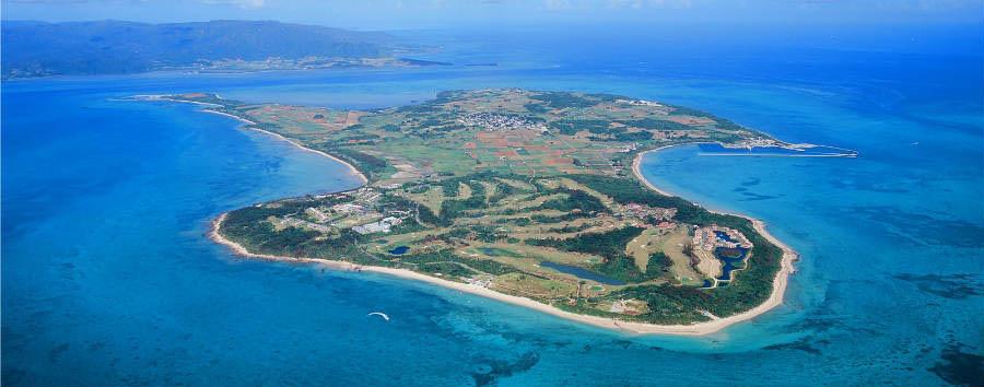 Mare a Okinawa: Kohamajima - Japan Kohamajima Aerial View © Hirata Kanko