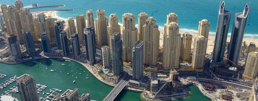 Wonders of Arabia - Dubai Skylines Aerial View