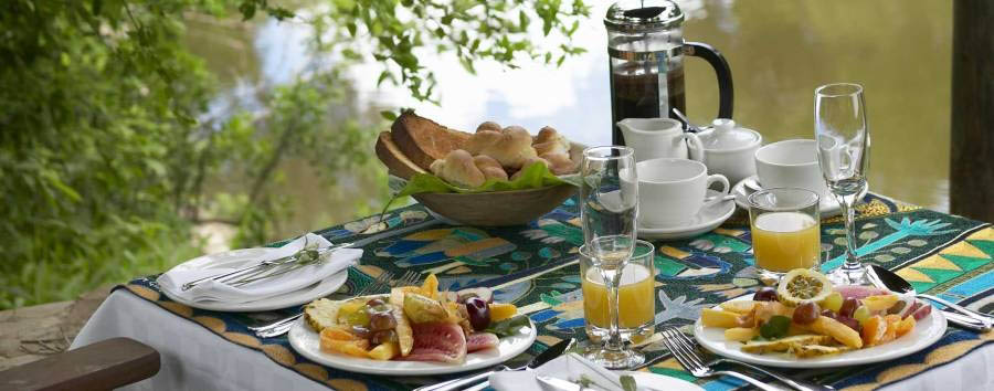 Luxury Tanzania Escape - Tanzania Breakfast on the riverbank