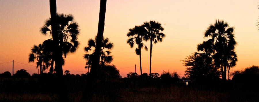 Namibia - Sunset in Owamboland