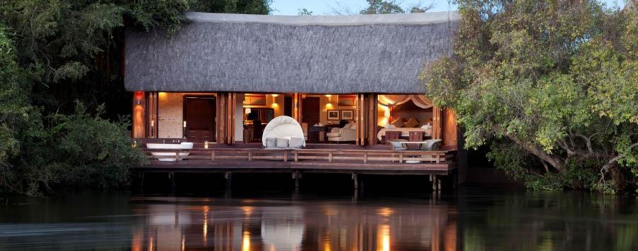 Royal Chundu - Island Lodge view from the Zambezi River