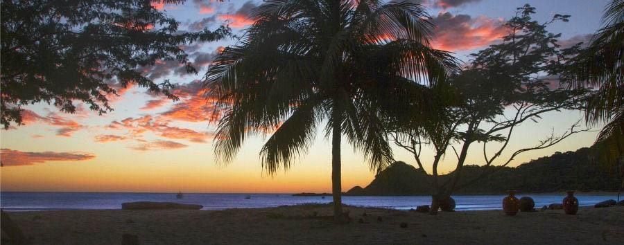 Highlights of Nicaragua - Nicaragua San Juan del Sur, Morgan's Rock Main Beach at Sunset