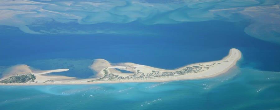 Vilankulos à la carte - Mozambique Bazaruto Archipelago Sandbank, Aerial View