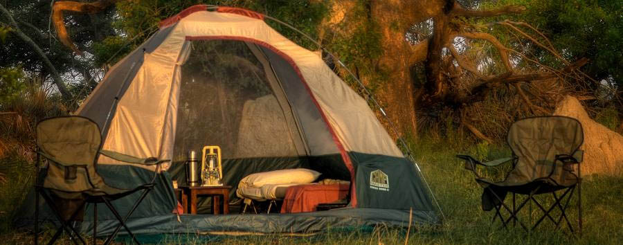 The Kanana Mokoro Trail - Tent by day