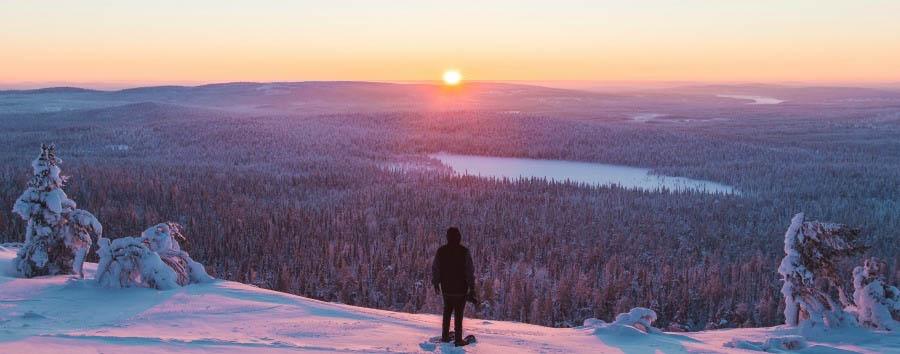 A caccia dell'aurora boreale - Finland Ylläs, Panorama © Jordan Herschel/Visit Finland
