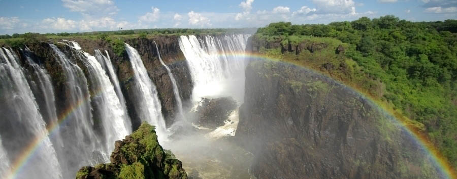 Botswana, smeraldo d'acqua - Zimbabwe Rainbow over Victoria Falls