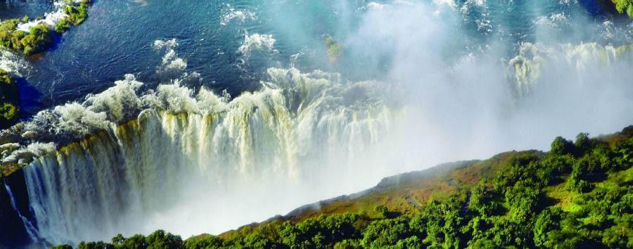 Deserto, fiumi e cascate - Zimbabwe Victoria Falls Aerial View
