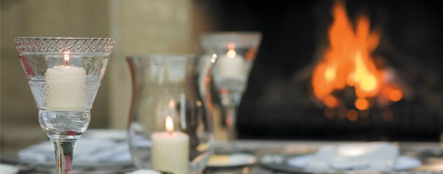 Time together in New Zealand - New Zealand Huka Lodge, Romantic Dinner Set Up near the Outdoor Fireplace