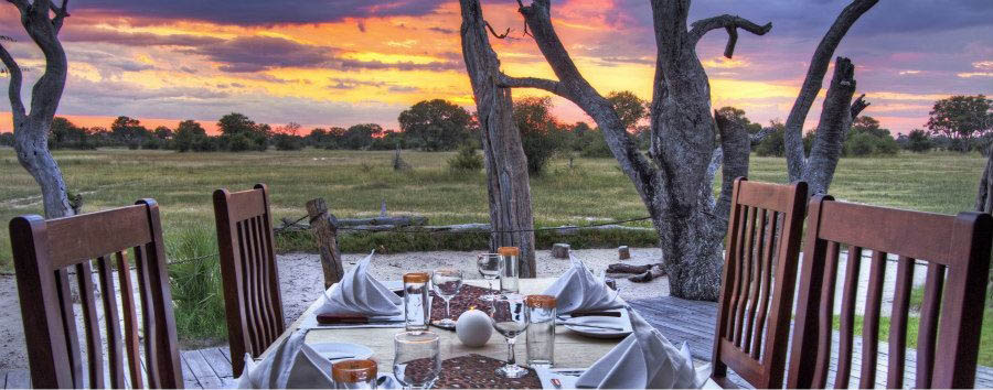 Bomani+Tented+Lodge+-+Private+Dining+at+Sunset