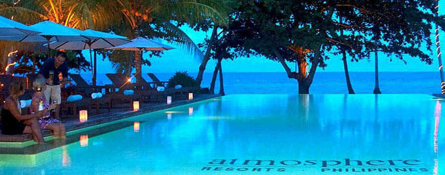 Blue Diving - Philippines Dumaguete, Atmosphere Resorts & Spa, Pool at Night