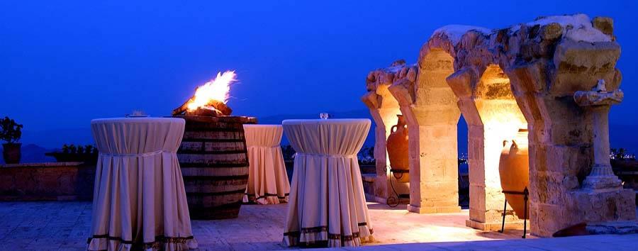 Cappadocia, fascino immutato - Turkey, Cappadocia Museum Hotel Terrace by night
