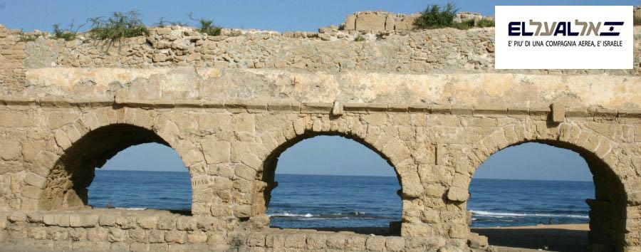Natale in Israele - Israel Caesarea, The Roman Aqueduct