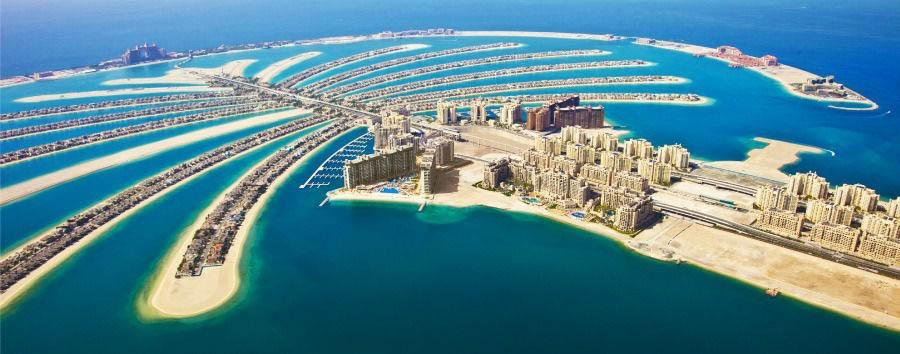 Emirates Extravaganza - Dubai Palm Island Aerial View