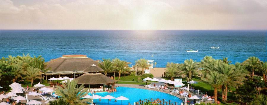 Shopping & Beach - Fujairah Fujairah Rotana Resort & Spa, Pool Aerial View