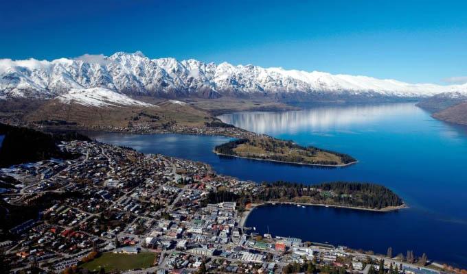 Queenstown Aerial View - New Zealand