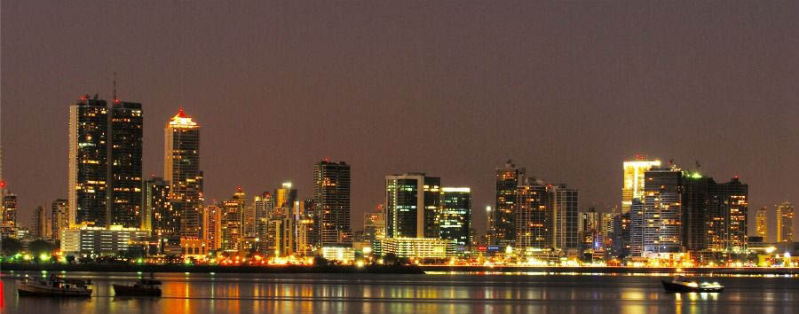 Highlights of Panama - Panama Panama City, Night View
