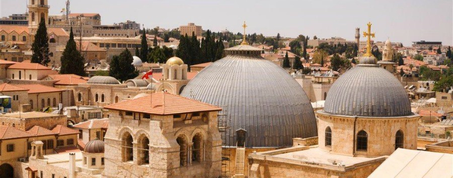 Jerusalem - The roof of the Church of the Holy Sepulchre