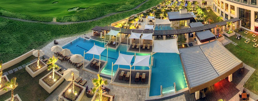 Crowne Plaza Yas Island - Pool Aerial View