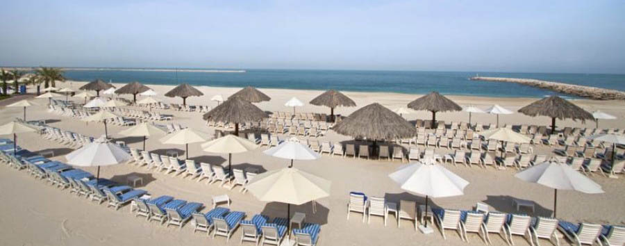 Beach in The Emirates - Ras Al Khaimah Beachfront, Aerial View