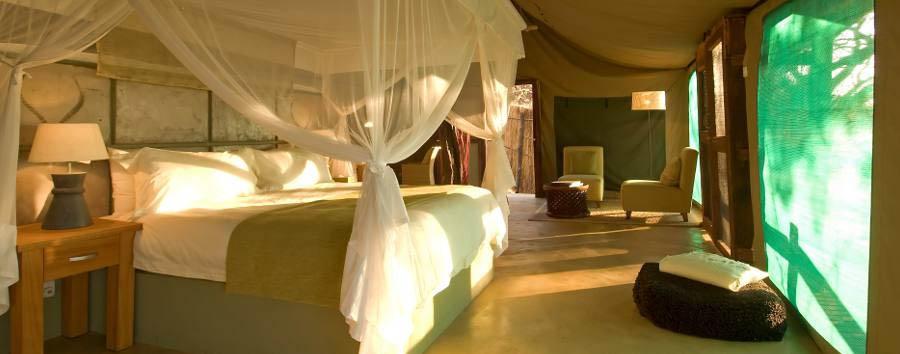 Sanctuary Puku Ridge Camp - Tent interior